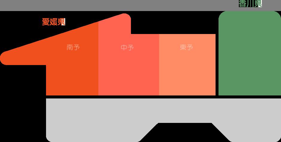 イメージ:四国の地図